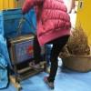 大豆脱穀 足踏み脱穀機
