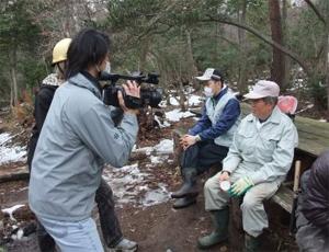 里守隊活動 次郎長さん テレビ 取材